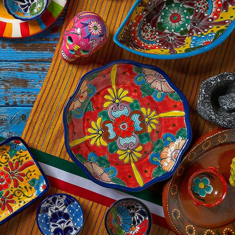 Colourful Mexico serving dish from Meshico Restaurant Group
