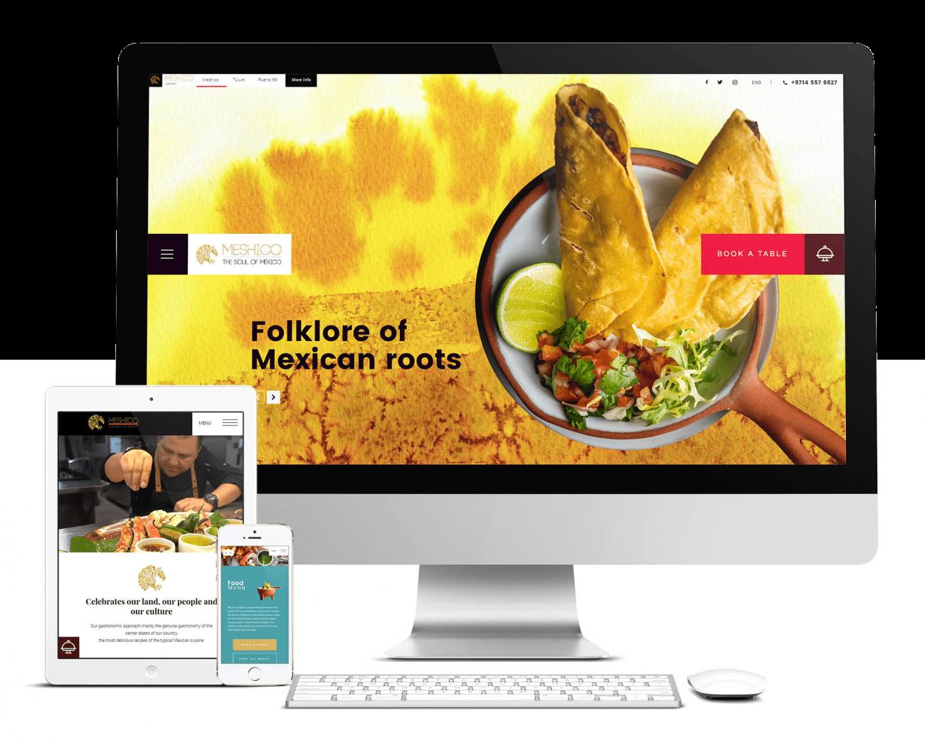Tulum website Meshico Restaurant Group