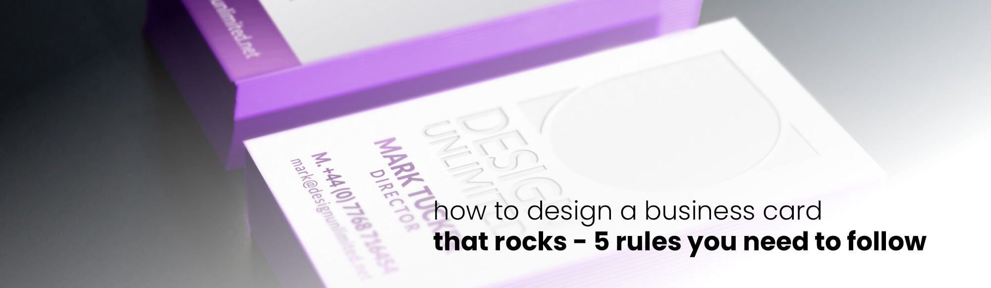 How to Create a Business Card That's Amazing